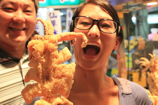 Fried squid from the night market in Kaohsiung.