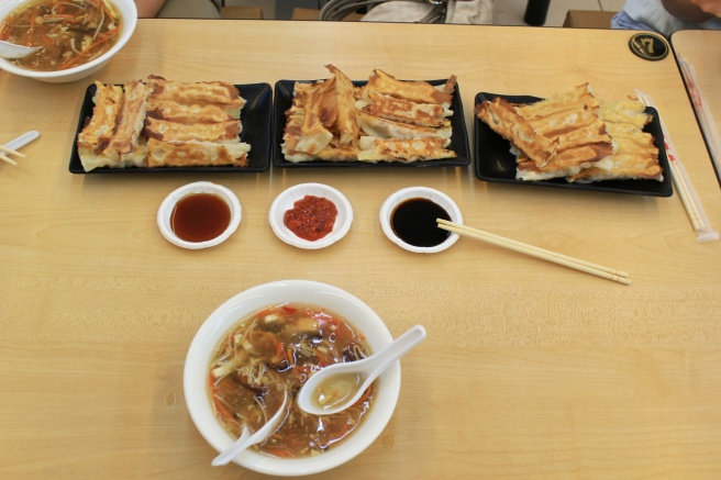 Taiwanese potstickers are a must. Also order hot and sour soup and soy milk!