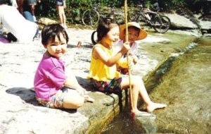 My cousins and I in Taiwan, circa 1994. I'm the one in the fisherman's hat!