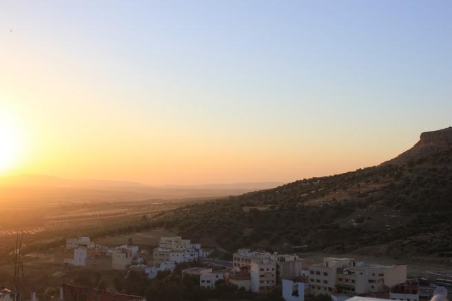 Sunset in Moulay Idriss Zerhoune